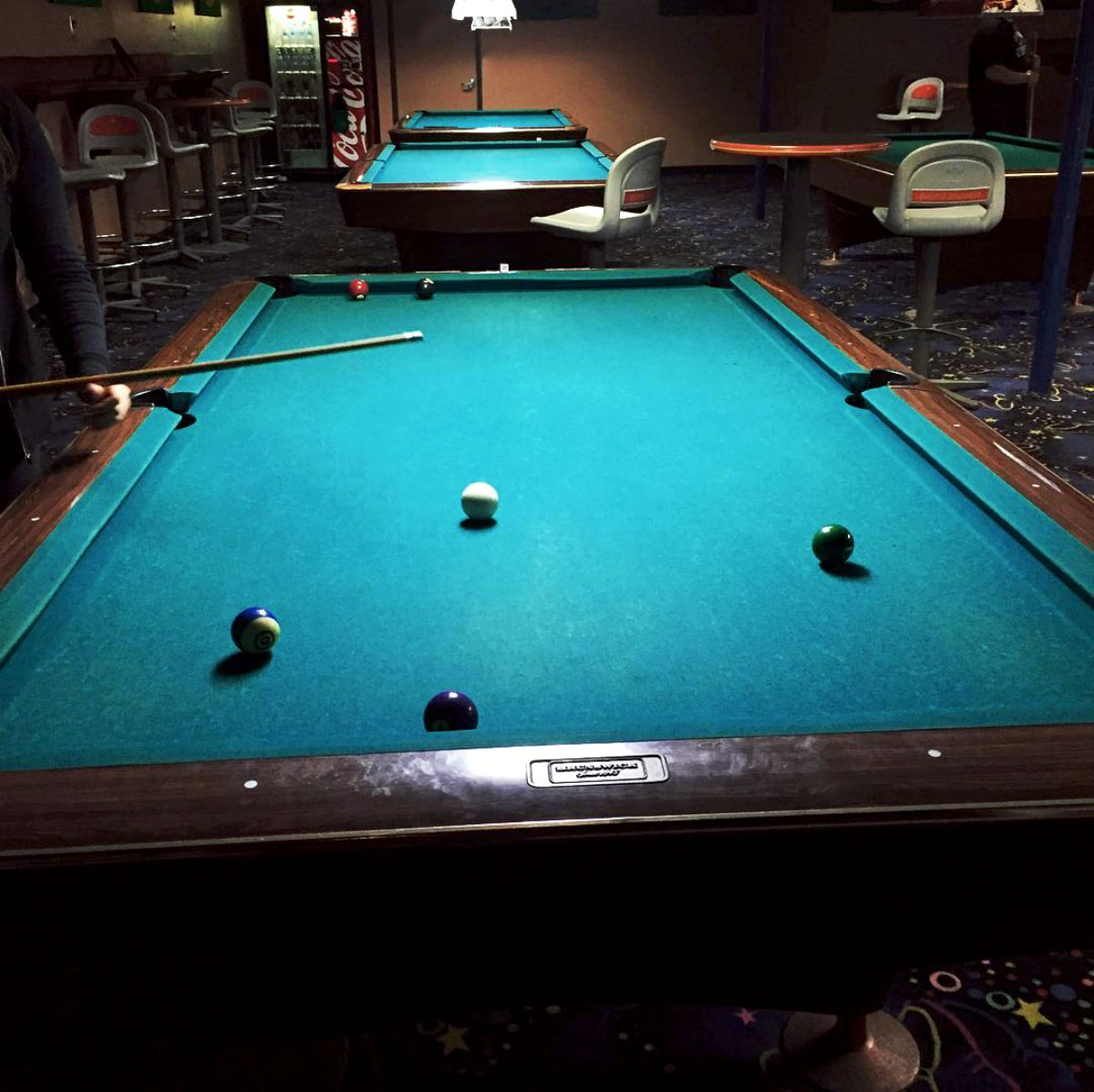Pool table at Banks Billiards